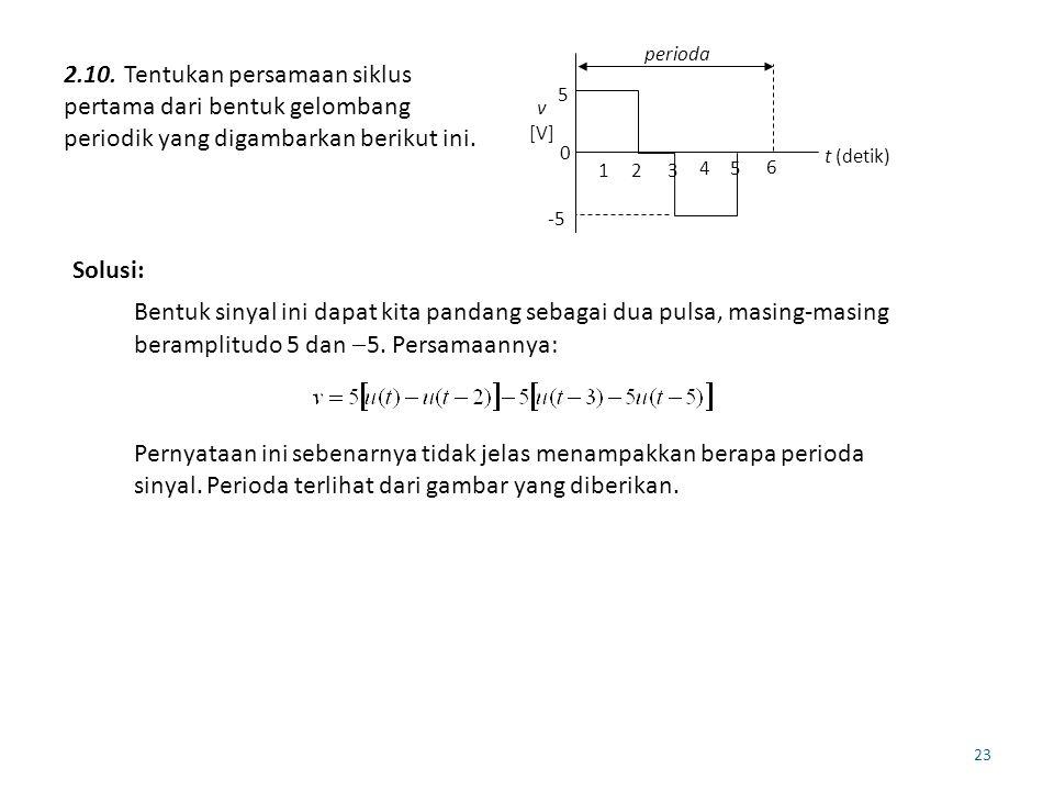 5 -5. t (detik) v. [V] perioda. 1. 2. 3. 4. 6.